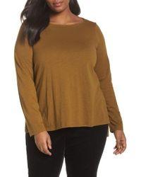 Eileen Fisher | Organic Cotton Jersey Top | Lyst