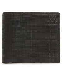 Loewe - Textured Calfskin Bifold Wallet - - Lyst