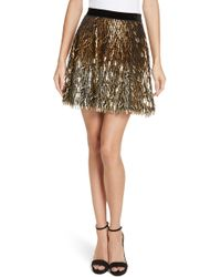 Alice + Olivia - Cina Embellished Miniskirt - Lyst