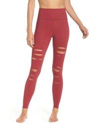 Alo Yoga - Ripped Airbrush Leggings - Lyst