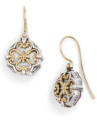 Konstantino - Etched Sterling Silver And Gold Drop Earrings - Lyst