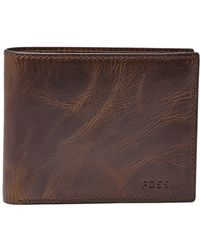 Fossil Derrick Rfid Leather Bifold Wallet - Brown
