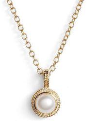 Anna Beck   Semiprecious Stone Round Drop Pendant Necklace   Lyst