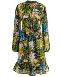 J.Crew | J.crew Watercolor Floral Silk Dress | Lyst