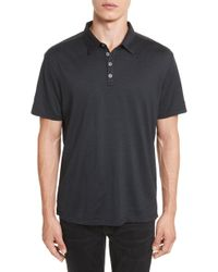 John Varvatos - Hampton Silk & Cotton Polo - Lyst
