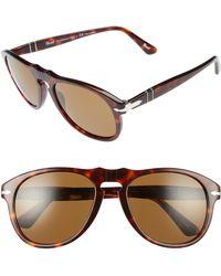0be056565ae Lyst - Persol 49mm Sunglasses - Havana  Brown in Brown for Men