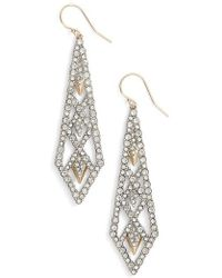 Alexis Bittar | Crystal Encrusted Drop Earrings | Lyst