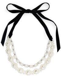 Simone Rocha Baroque Imitation Pearl Double Strand Necklace - Metallic