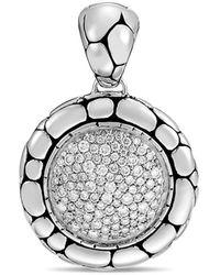 John Hardy - Kali Silver Diamond Pavé Pendant - Lyst