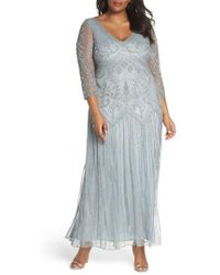Pisarro Nights - Embellished Double V-neck Long Dress - Lyst