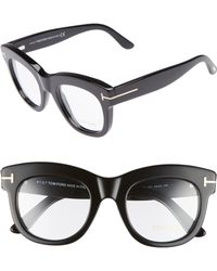 a51340253756 Lyst - Tom Ford 49mm Optical Glasses - Shiny Transparent Grey in Gray