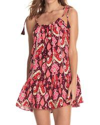 Maaji Magnolia Cover-up Minidress - Pink