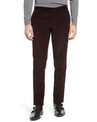 Ted Baker Rodger Extra Trim Fit Corduroy Pants - Red