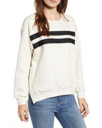 Sundry - Side Zip Stripe Pullover - Lyst