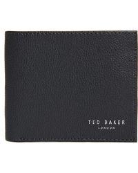 Ted Baker Fluu Printed Leather Bifold Wallet - Blue