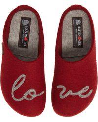 Haflinger Lovely Wool Slipper - Red