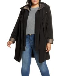 Gallery Hooded Raincoat With Liner - Black