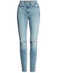 GOOD AMERICAN - Good Legs Ripped High Waist Skinny Jeans - Lyst