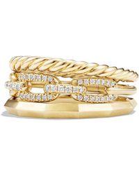 David Yurman - 'stax' Narrow Diamond Ring - Lyst