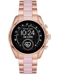 Michael Kors Bradshaw 2 Link Bracelet Touchscreen Smartwatch - Pink