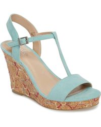 Charles David - Laney Embroidered Wedge Sandal - Lyst