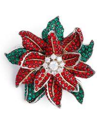 Nadri - Jolly Poinsettia Pin - Lyst