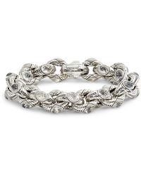 Konstantino - Pythia Crystal Large Chain Link Bracelet - Lyst