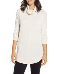 Caslon - Caslon Turtleneck Tunic Sweater - Lyst