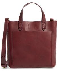 Madewell - Small Transport Leather Crossbody Bag - Burgundy - Lyst