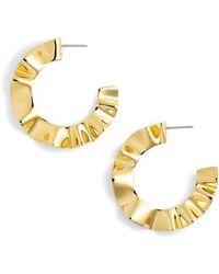 Kate Spade - Textured Hoop Earrings - Lyst