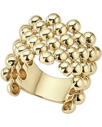 Lagos - Caviar Gold Collection 18k Gold Wide Beaded Ring - Lyst