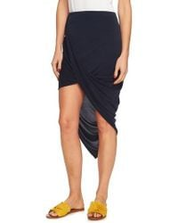1.STATE - Asymmetrical Wrap Style Skirt - Lyst