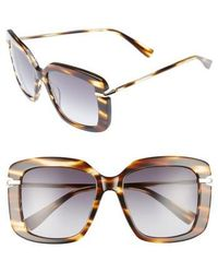 Derek Lam - Anita 55mm Square Sunglasses - Havana - Lyst