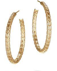 John Hardy - Classic Chain 18k Gold Medium Hoop Earrings - Lyst