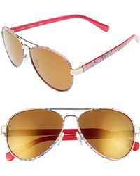 Lilly Pulitzer - Lilly Pulitzer Ainsley 59mm Polarized Aviator Sunglasses - - Lyst