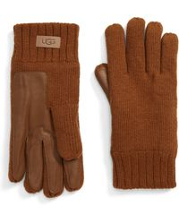 UGG UGG Knit Tech Gloves - Brown