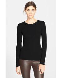 Theory - 'mirzi' Rib Knit Merino Wool Sweater - Lyst