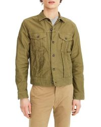 J.Crew | J.crew Garment Dyed Bedford Cord Trucker Jacket | Lyst
