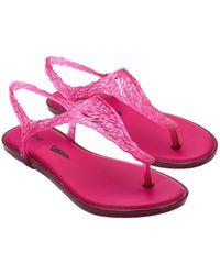 Melissa Campana Flow Sandal - Pink