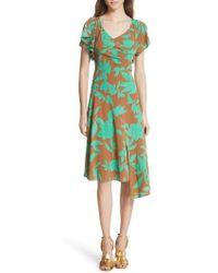 Tracy Reese - Asymmetrical Faux Wrap Dress - Lyst