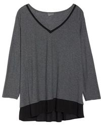 Vince Camuto - Woven Hem Layered Top - Lyst