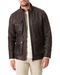 Rodd & Gunn - Silverdale Leather Jacket - Lyst