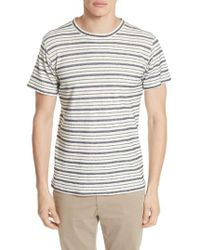 Norse Projects - Niels Textured Stripe T-shirt - Lyst