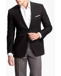 Canali Classic Fit Solid Wool Blazer - Black