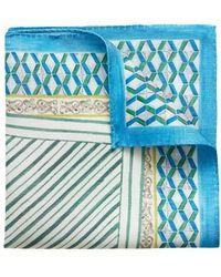 Eton of Sweden - Geometric Linen & Silk Pocket Square - Lyst