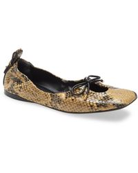 FRAME Le Sunset Square Toe Ballet Flat - Multicolor