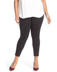 Sejour - Seam Detail Crop Ponte Leggings - Lyst