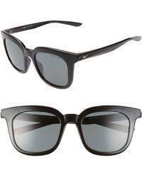 Nike Myriad 52mm Polarized Square Sunglasses - Gray