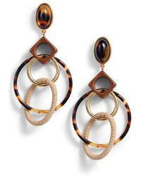 Tory Burch - Spinning Hoop Earrings - Lyst