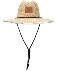 Quiksilver Outsider Straw Lifeguard Hat - Blue